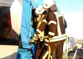 Erneuter schwerer Lkw-Verkehrsunfall auf der Autobahn