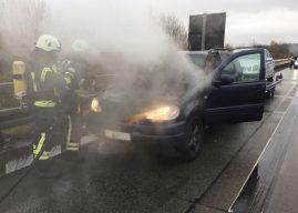 Fahrzeugbrand auf der Autobahn – Totalschaden verhindert