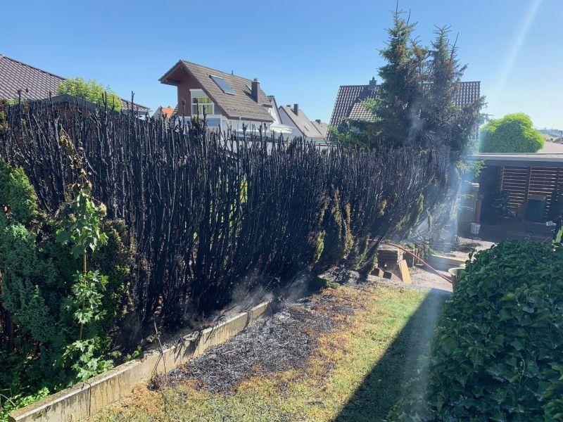 28.06.2017 10:31 Uhr   Brandeinsatz Hecke, Frhr.-vom-Stein-Straße