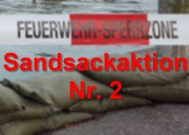 Sandsack-Aktion wird wiederholt