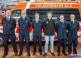 Neue Feuerwehrmänner verpflichtet