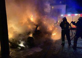 Pkw-Brand drohte auf Wohnhaus überzugreifen