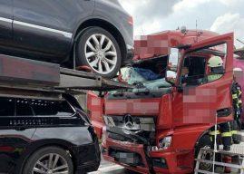Lkw-Crash auf der Autobahn – Ein Verletzter, hoher Sachschaden