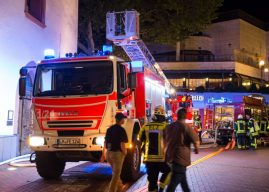 Brand auf dem Dach der Limburger Stadthalle