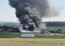 Großbrand auf dem Reiterhof