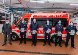 Anerkennungsprämie für 100 Jahre Feuerwehr-Einsatzdienst