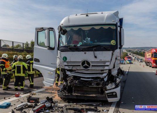 Lkw-Crash auf der Autobahn
